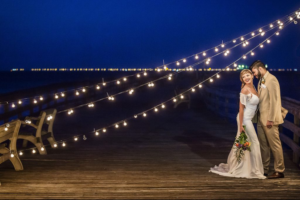 coastal virginia bride, dragon studio, misty saves the day, beach wedding, virginia beach wedding, martina liana, house of maya, pure english bridal, lynnhaven fishing pier, pier wedding, behind the veil, fluttering flowers