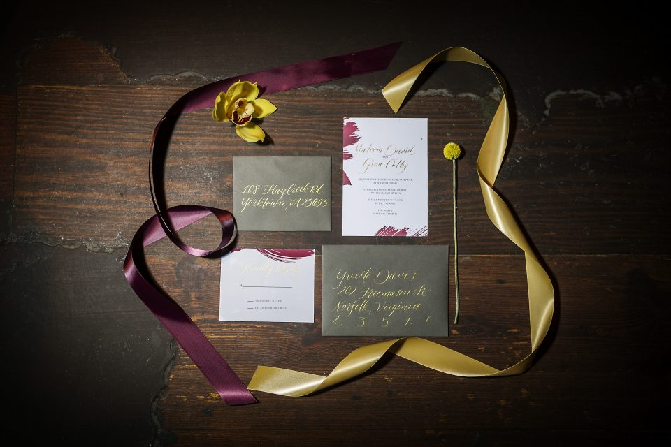 Letterlyn, Coastal Virginia BrideThe Norva, burgundy and gold wedding, Misty Saves the Day, Dragon Studio