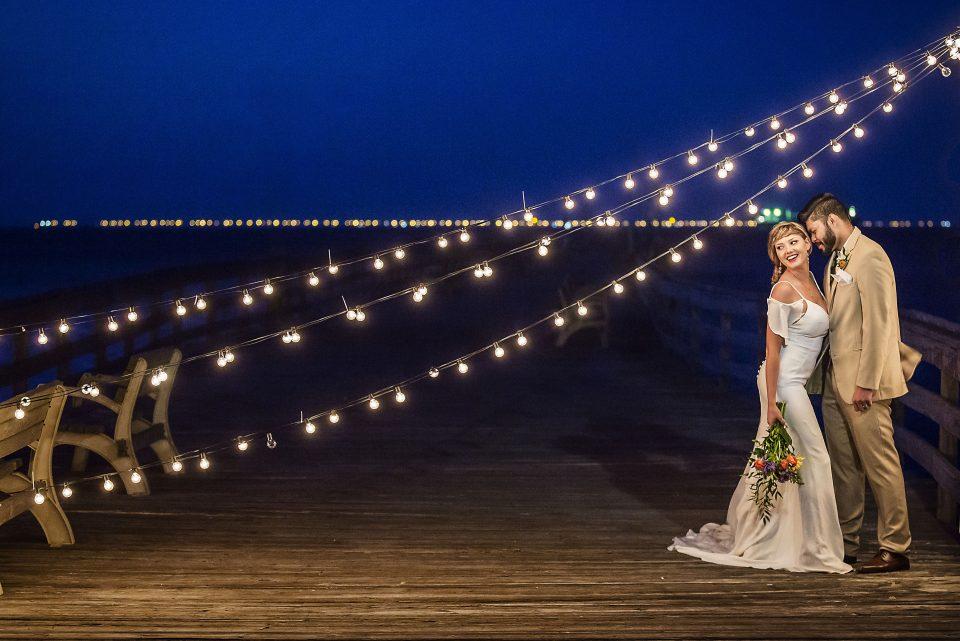 coastal virginia bride, dragon studio, misty saves the day, beach wedding, virginia beach wedding, martina liana, house of maya, pure english bridal, lynnhaven fishing pier, pier wedding, behind the veil, fluttering flowers