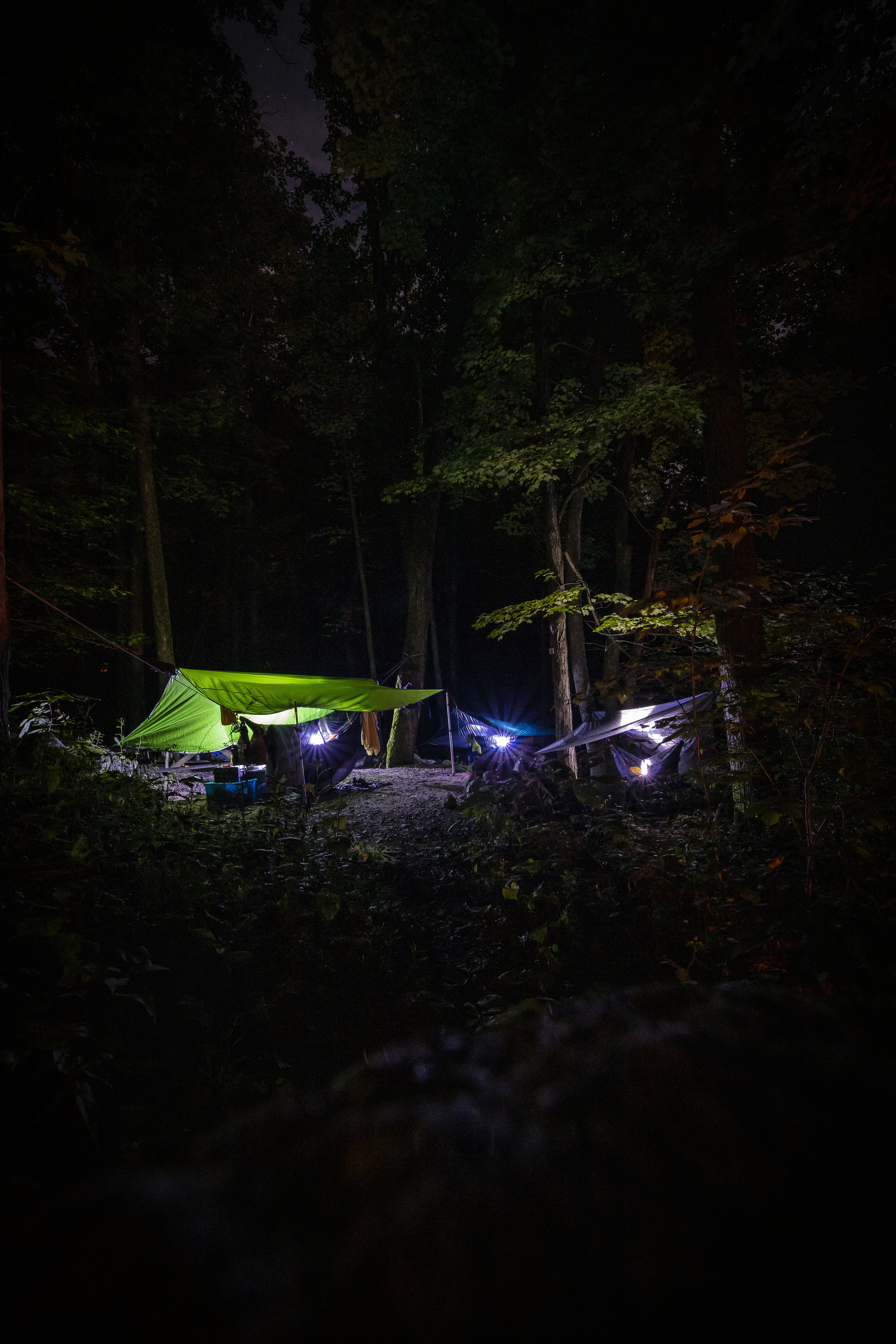 crabtree falls campground, misty saves the day, hammock camping virginia